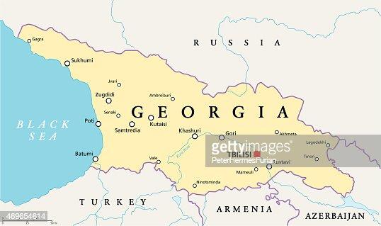 Georgia Middle East Map  Georgia Map