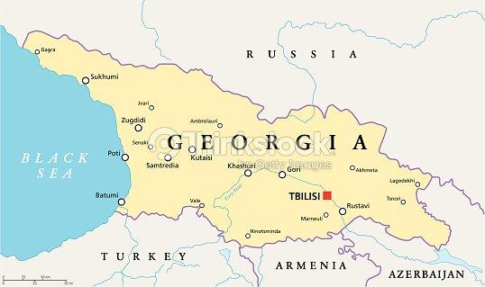 Gorgia Political Map Vector Art Thinkstock - Georgia map 2015