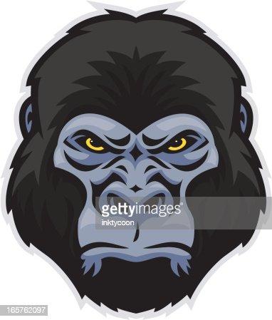 Gorilla vector head - photo#16