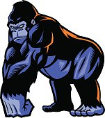 vector of gorilla mascot