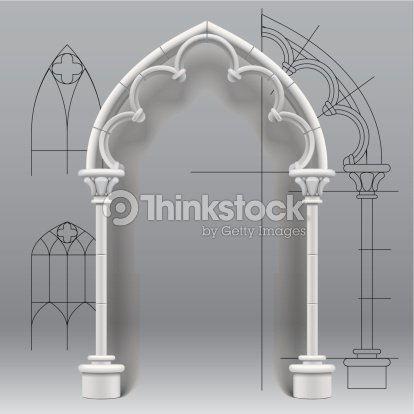 Gothic Arch Vector Art