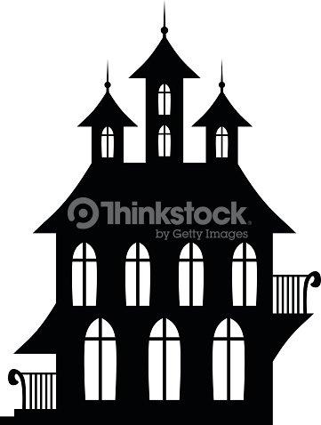 Gothic House Vector Art