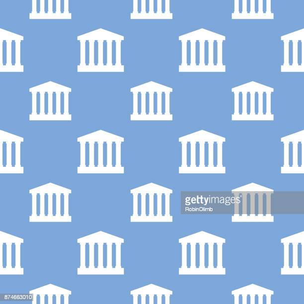 Government Building Seamless Pattern