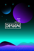 Vector abstract gradient illustrations,universe. space. space trip. design. Backgrounds for the cover of magazines about dreams, future, design and space, fancy, crazy posters