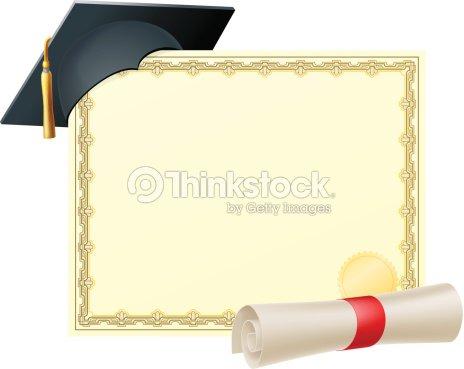 Certificat De Diplômés Arrièreplan Clipart vectoriel ...