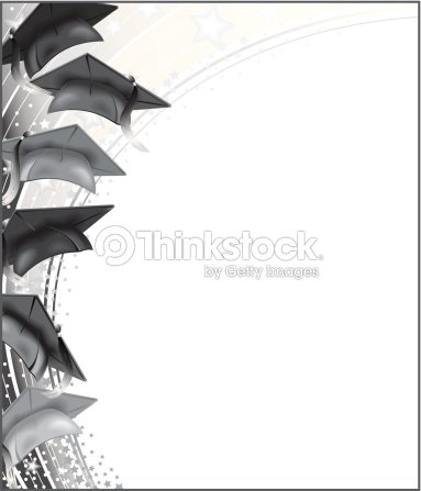 Graduate Hats Frame Vector Art | Thinkstock