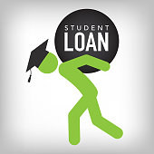 Graduate Student Loan Icon - Student Loan Graphics for Education Financial Aid or Assistance, Government Loans, & DebtGraduate Student Loan Icon - Student Loan Graphics for Education Financial Aid or