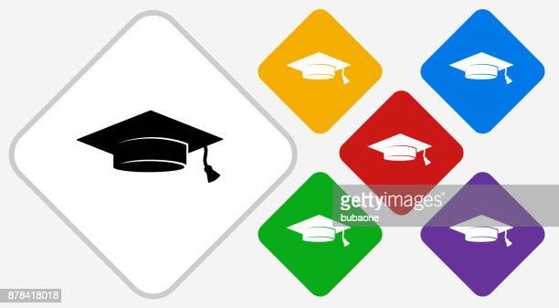 Graduation Cap kleur Diamond Vector Icon
