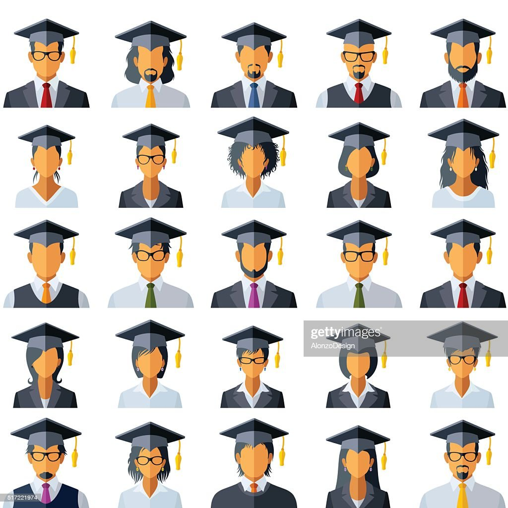 Graduation Cap Icons Vector Art | Getty Images