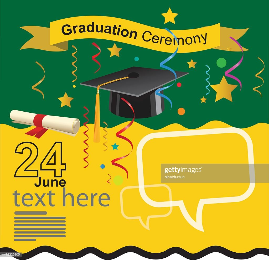 Graduation Ceremony Invitation Vector Art Getty Images