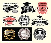 Graduation sector set Class of 2015, Congrats grad Congratulations Graduate