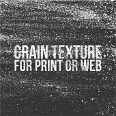 Grain Texture for Print or Web. Vector Illustration