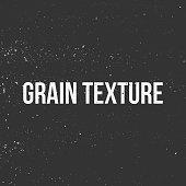 Grain Texture. Monochrome vintage Banner. Vector Illustration