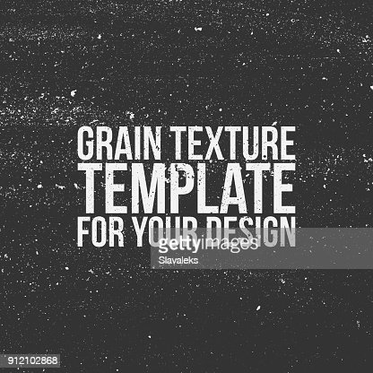 Grain Texture Template for Your Design : stock vector