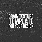 Grain Texture Template for Your Design. Vector Illustration