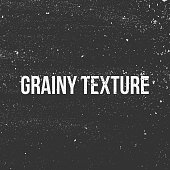 Grainy Texture. Black and white Banner. Vector Illustration