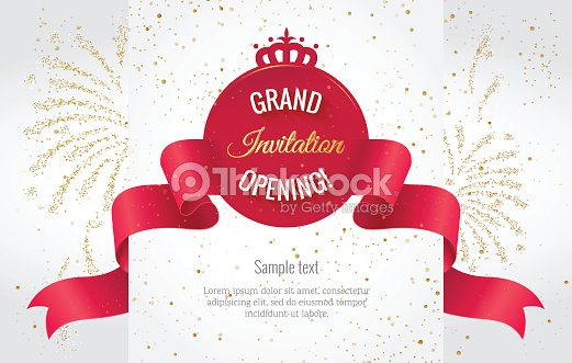 Grand opening horizontal banner with curving ribbon vector art grand opening horizontal banner with curving ribbon vector art stopboris Gallery