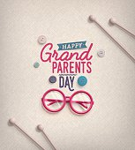 Grandparents Day, greeting card. Illustration contains transparency and blending effects, eps 10