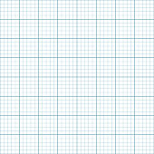 simple blue lines forming squares of graph paper seamless pattern