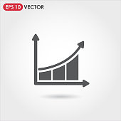 graph single vector icon for web, mobile and user interface design