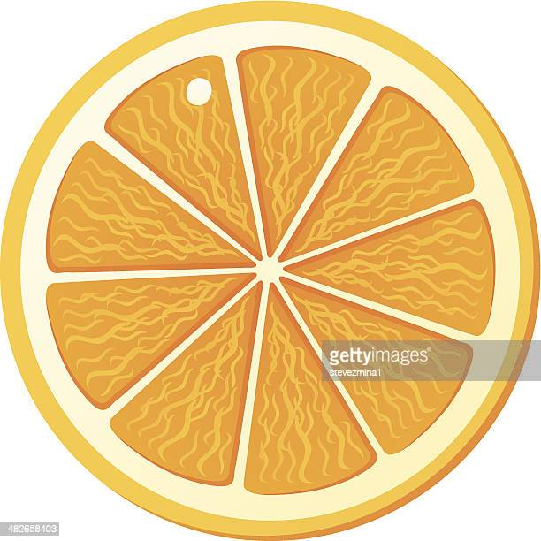 Graphic depicting an orange slice