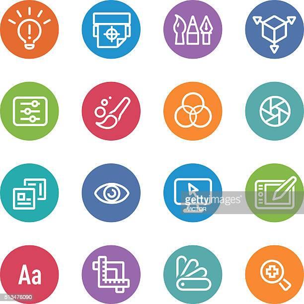 Graphic Design Icons - Circle Line Series