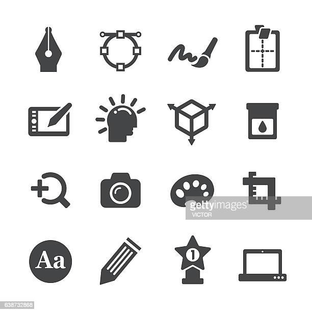 Graphic Design Icons Set - Acme Series