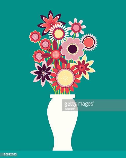Graphic design of wildflower bouquet