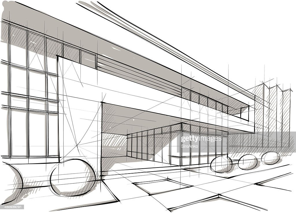 Marvelous Graphic Design Sketch Of Architecture And Landscape Vector Art | Getty  Images