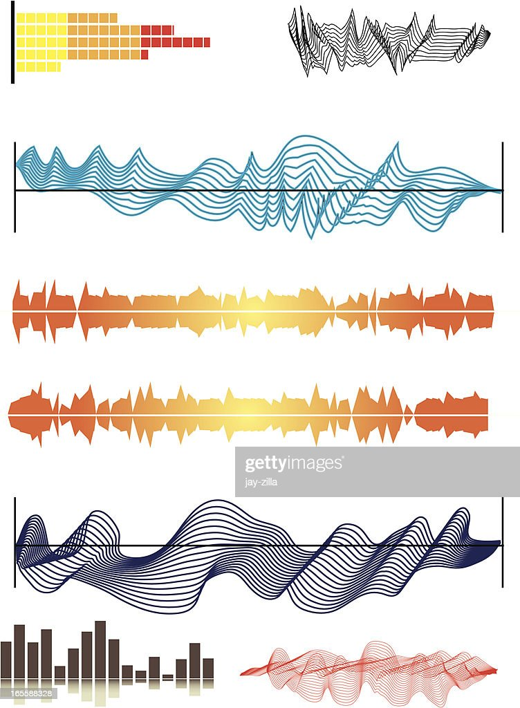 Graphic Elements 2  - Sound waves : Vector Art