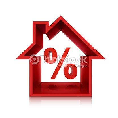 Grafico per immobiliare business il 3d percentuale arte vettoriale thinkstock - Percentuale agenzia immobiliare tecnocasa ...