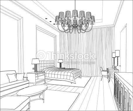 Graphical interior vector art thinkstock for Oficinas chicas