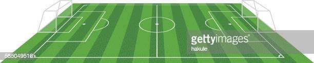 grass football soccer field, vector illustration
