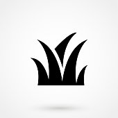 grass icon on the white background