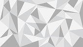Gray tone polygon abstract background - vector illustration.