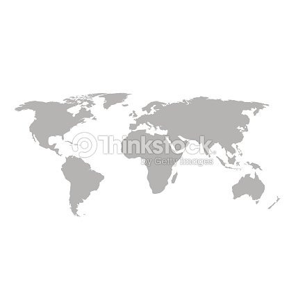 Gray world map on white background vector art thinkstock gray world map on white background vector art gumiabroncs Image collections