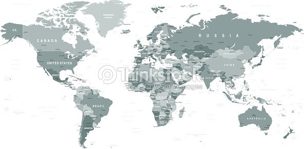 Grayscale world map borders countries and cities illustration vector grayscale world map borders countries and cities illustration gumiabroncs Image collections