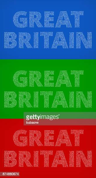 Great Britain Circuit Board Color Vector Backgrounds