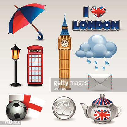 Great Britain Icons Vector Art