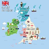 Great Britain picture Map  vector illustration EPS10.