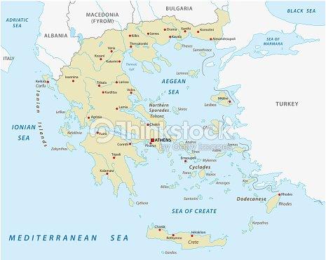 Greece Abstract Vector Map Vector Art | Thinkstock