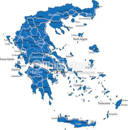 Greece Map Vector Art | Thinkstock
