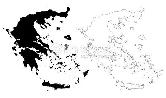 Greece Map Vector Vector Art | Thinkstock
