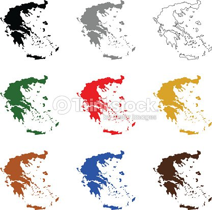 Greece Maps Vector Art   Thinkstock