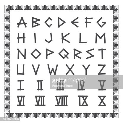 Ancient Greek Writing Font