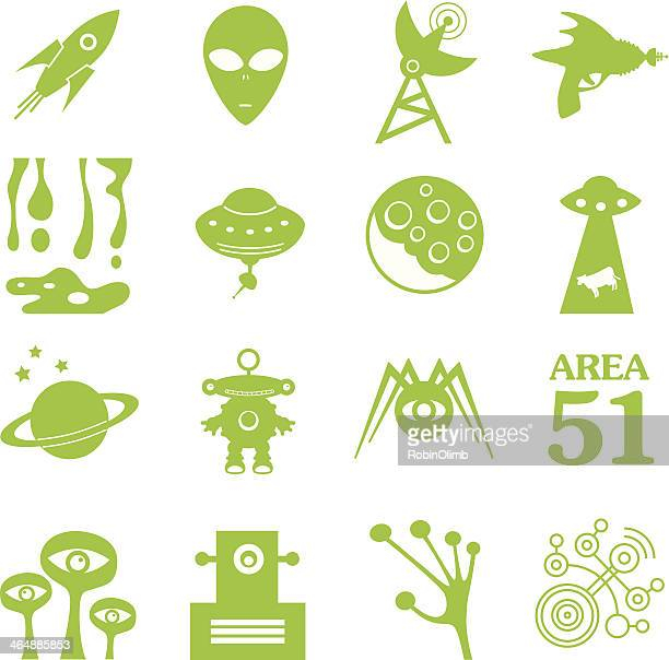 Green Alien Icons