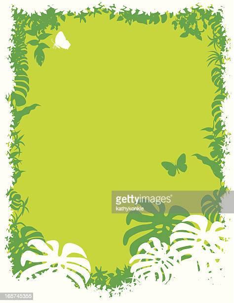 Grüne und weiße tropische Grenze