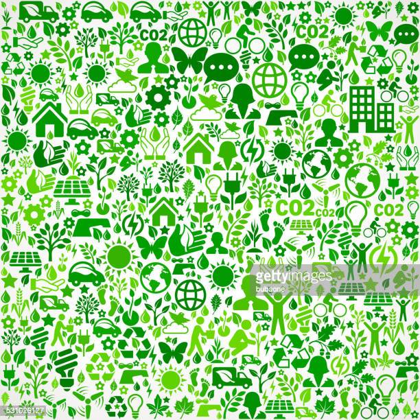 Green Background Environmental Conservation and Nature interface icon Pattern