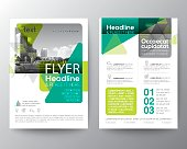 Green Flyer Brochure Poster Cover design Layout vector template in A4 size