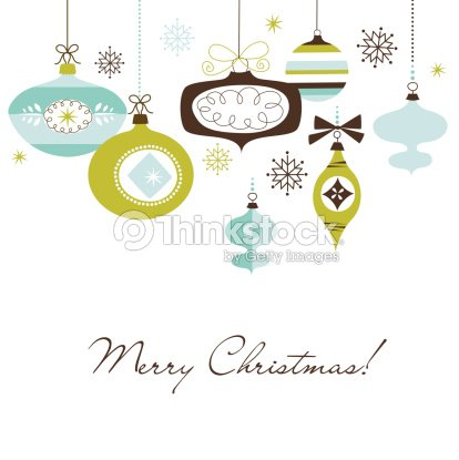 green brown and blue animated christmas ornaments vector art - Animated Christmas Ornaments